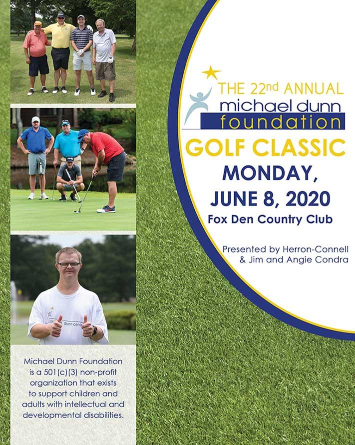 Golf Tournament Brochure Cover